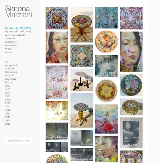 Simona Marziani, concept web